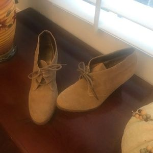 Audrey Brooke real leather suede bootie 7.5